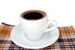 Cuvette de café intense image libre de droits