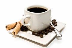 Cuvette de café isolée avec la décoration Image stock