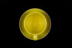 Cuvette de café jaune 3 Image libre de droits