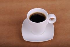 Cuvette de café noir Photo stock