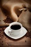Cuvette de café noir Photo libre de droits