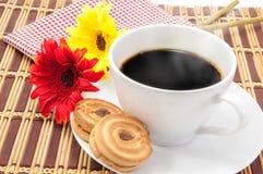 Cuvette de café noir Images libres de droits