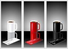Cuvette de café pour vos affaires Photo stock
