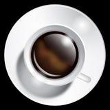 Cuvette de café réaliste Photographie stock libre de droits