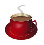Cuvette de café rouge illustration de vecteur
