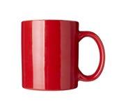 Cuvette de café rouge Photographie stock libre de droits