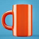 Cuvette de café rouge Image libre de droits