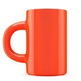 Cuvette de café rouge Photo stock
