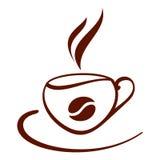 Cuvette de café stylisée Images libres de droits