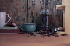 Cuvette de café sur la table Image stock