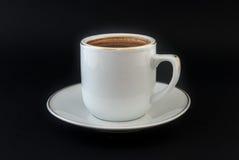 Cuvette de café sur le fond blanc Image libre de droits