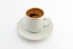Cuvette de café sur le fond blanc Photo libre de droits