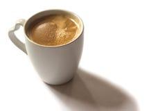 Cuvette de café sur le fond blanc Photos libres de droits