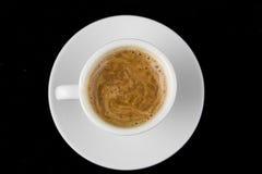 Cuvette de café sur le noir Photo libre de droits