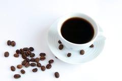 Cuvette de café sur une table Images stock