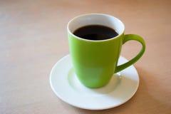 Cuvette de café verte Photo stock