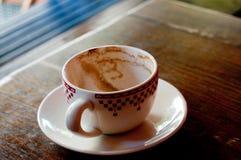 Cuvette de café vide Photographie stock