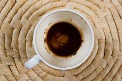 Cuvette de café vide Photo stock