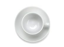 Cuvette de café vide Image libre de droits