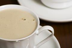 Cuvette de café avec la mousse Photographie stock