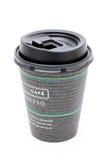 Cuvette de café de papier Photo libre de droits