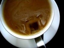 Cuvette de café et de lait Photo stock