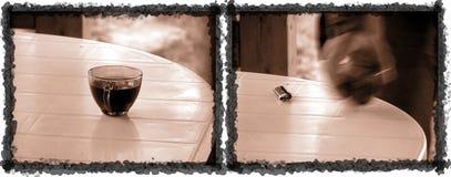Cuvette de café - saisissez-la maintenant Photographie stock libre de droits