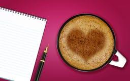 Cuvette de cappuccino Photos stock