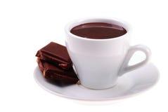Cuvette de chocolat chaud Photos stock
