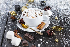 Cuvette de chocolat chaud Images stock