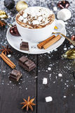 Cuvette de chocolat chaud Photos stock