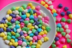 Cuvette de coeurs de sucrerie Image libre de droits