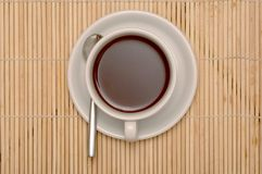 Cuvette de coffe avec des chemins de découpage Photo libre de droits