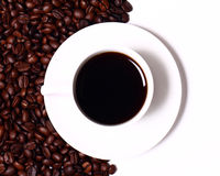 Cuvette de coffe chaud noir Image stock
