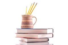 Cuvette de crayons Image stock