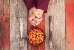 Cuvette de dîner d'arachides Photographie stock libre de droits