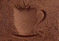 Cuvette de fond de café Photographie stock libre de droits