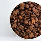 Cuvette de graines de café Photographie stock libre de droits