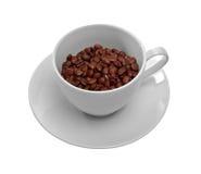 Cuvette de grains de café Photo stock