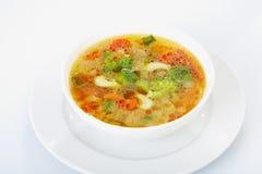 Cuvette de légume de soupe Photo stock