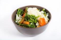 Cuvette de légumes bouillis Photos libres de droits