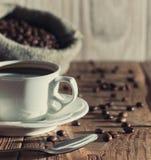 Cuvette de matin de café Photos libres de droits