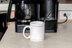 Cuvette de matin de café Images stock