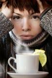 Cuvette de matin de thé Photo libre de droits
