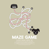 Cuvette de Maze Game With Dog And Photos stock