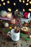 Cuvette de Noël de café Photo stock
