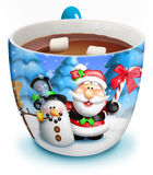 Cuvette de Noël de chocolat chaud Photo stock