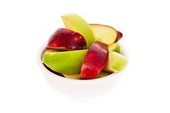 Cuvette de parts de pomme image libre de droits