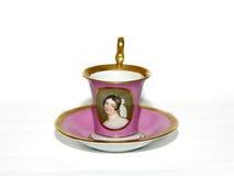 Cuvette de porcelaine de thé photographie stock