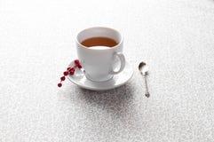 Cuvette de thé avec des baies Images stock